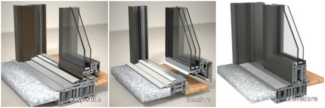 Las mejores ventanas y puertas correderas de aluminio - Puerta balconera aluminio ...