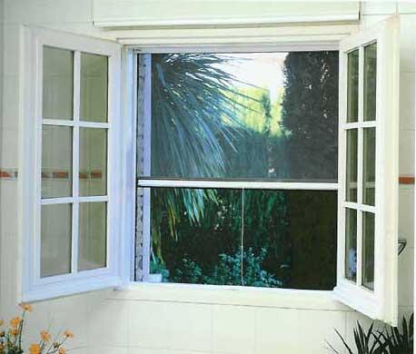 Tipos de mosquiteras para ventanas y puertas de alumino y pvc for Tipos de aluminio para ventanas